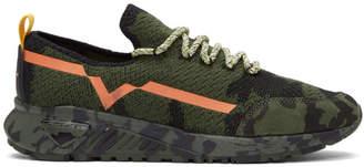 Diesel Green and Black S-KBY Sneakers