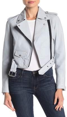 AllSaints Baron Lambskin Leather Biker Jacket