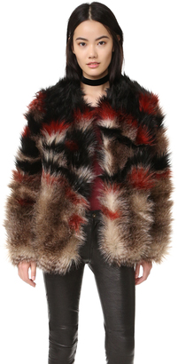 Free People Scarlet Fax Fur Jacket $298 thestylecure.com