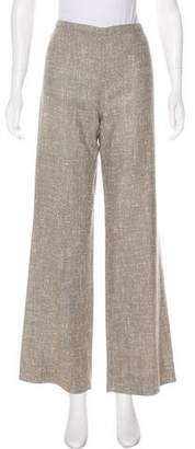 Valentino Mid-Rise Wide-Leg Pants