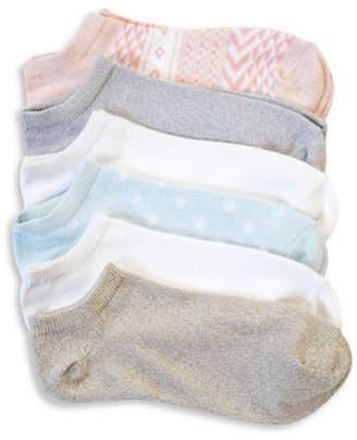 Hue Pack of Six Super Soft Liner Socks