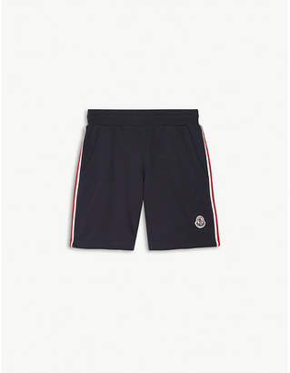 Moncler Striped cotton jersey shorts 4-14 years