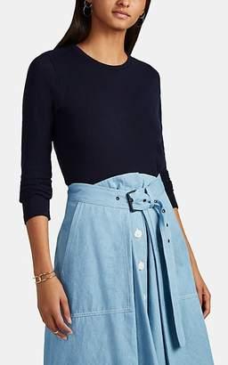 Barneys New York Women's Cashmere-Cotton Sweater - Navy