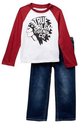 True Religion Scout Tee & Jeans Set (Toddler Boys)