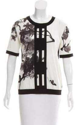 Vivienne Tam Printed Short Sleeve Top