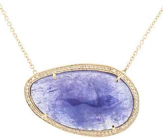 Jacquie Aiche 14K Tanzanite & Diamond Pendant Necklace