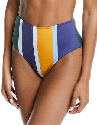Mei L'ange Ariana High-Waist Colorblock Bikini Swim Bottoms