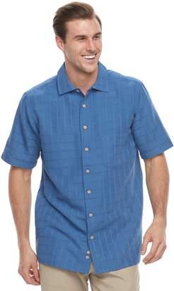 Men's Batik Bay Classic-Fit Textured Plaid Button-Down Shirt