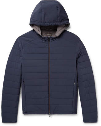 Loro Piana Quilted Rain System Shell Hooded Jacket