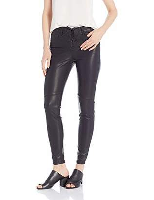 William Rast Women's Perfect Skinny Moto Vegan Leather Pant