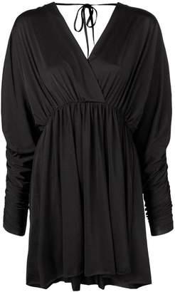 Fisico mini V-neck dress