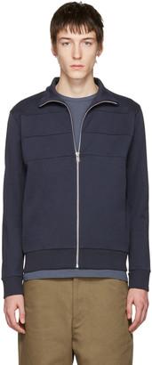 A.P.C. Navy Vincent Track Jacket $250 thestylecure.com