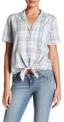 Equipment Keira Plaid Tie Front Shirt