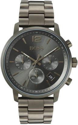 HUGO BOSS BOSS Men's Chronograph Attitude Khaki Stainless Steel Bracelet Watch 44mm