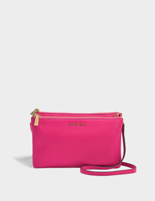 MICHAEL Michael Kors Double Zip Crossbody Bag in Ultra Pink Small Pebbled Leather