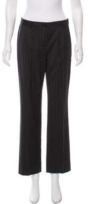 Dolce & Gabbana Pinstripe Mid-Rise Pants