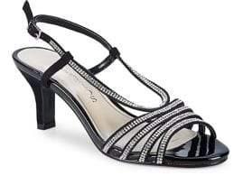 Caparros Niche Suede Strappy Slingback Heels