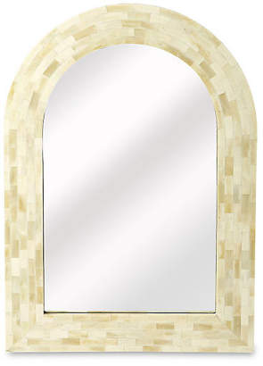 One Kings Lane Dafna Arched Bone-Inlay Wall Mirror - Cream