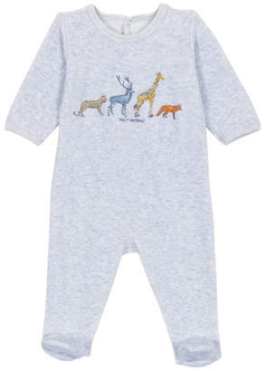 Petit Bateau Infant Footed Sleepers Unisex with Zoo
