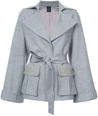 Thomas Wylde tie-waist embellished jacket