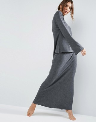 ASOS LOUNGE Ribbed Maxi Skirt $34 thestylecure.com