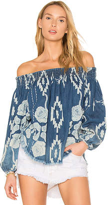 One Teaspoon St Lucia Sugar Top in Blue $138 thestylecure.com
