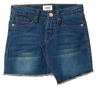 Hudson Asymmetrical Raw Hem Denim Skirt (Little Girls)