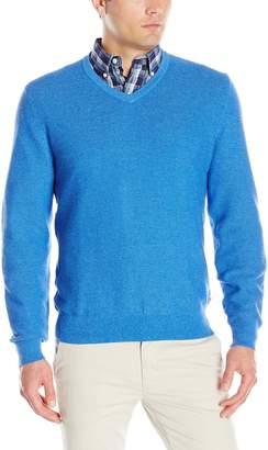Izod Men's Allover Links Vee with Pre-Twist Yarn Sweater