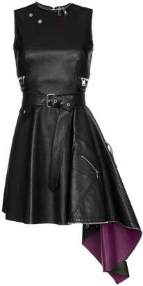 Alexander McQueen belted biker dress