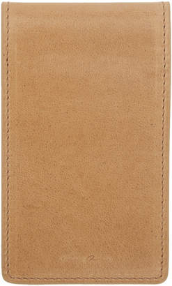 Rick Owens Beige Leather Bifold Wallet