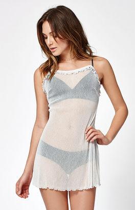 Motel Rocks Rowen Sheer Shimmery Slip Dress $53 thestylecure.com