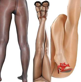 1 DDLIN Sexy Glitter Shimmer Control Top Pantyhose Shiny Silky Sheer Glossy Tights