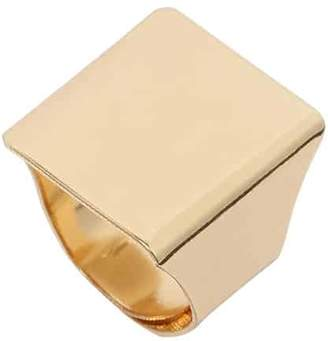 Romwe Gold Punk Square Ring