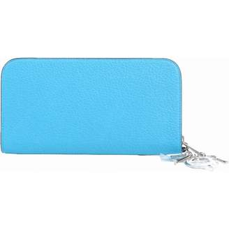Christian Dior Blue Leather Wallets