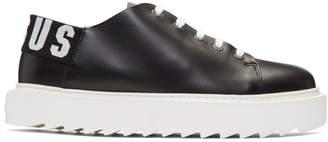 Versus Black Logo Platform Sneakers