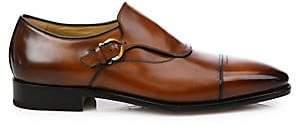 463117824 Salvatore Ferragamo Men s Faustino Leather Monk Strap Shoes