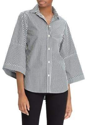 Lauren Ralph Lauren Petite Gingham Cotton Button-Down Shirt