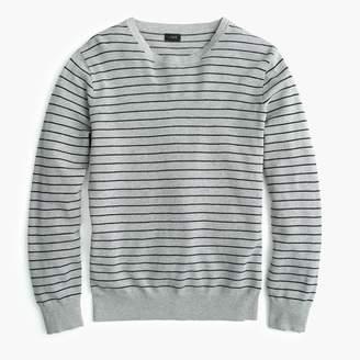 J.Crew Cotton-cashmere piqué crew neck sweater in stripe