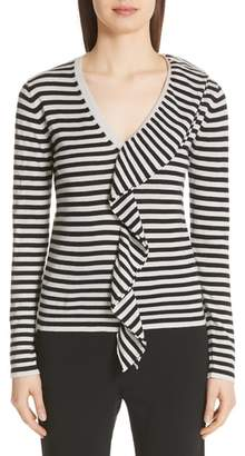 Max Mara Dingo Stripe Silk & Cashmere Sweater