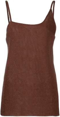 Kacey Devlin asymmetical metallic cami top