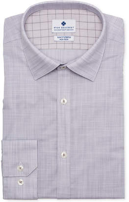 Ryan Seacrest Distinction Men Ultimate Slim-Fit Non-Iron Performance Stretch End on End Check Dress Shirt