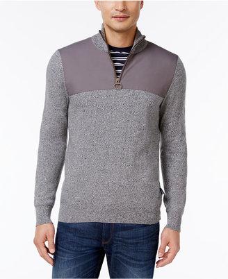 Barbour Men's Teflon-Coated Quarter-Zip Sweater $229 thestylecure.com
