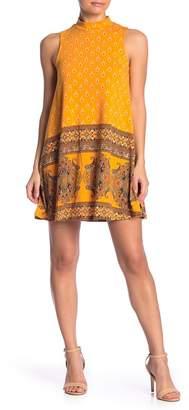 Angie Mock Neck Sleeveless Shift Dress