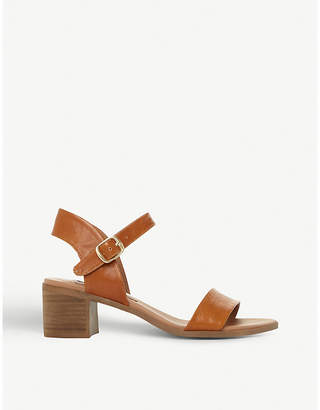 Steve Madden April leather strap mid-heel sandals
