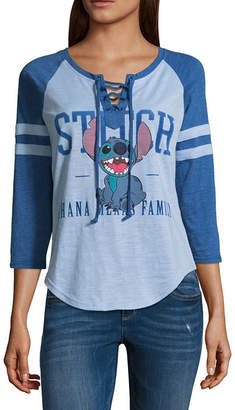 Freeze Stitch Lace Up Baseball Tee - Juniors