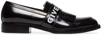 Givenchy logo fringe leather loafers