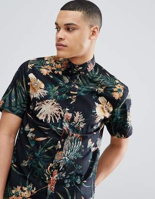 ONLY & SONS Short Sleeve Shirt With Floral Print