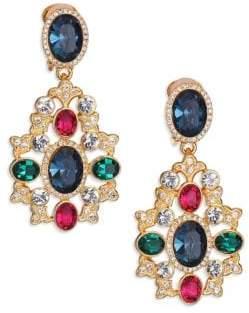 Kenneth Jay Lane Multicolor Oval Filigree Drop Earrings