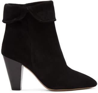 Isabel Marant Black Suede Darilay Boots