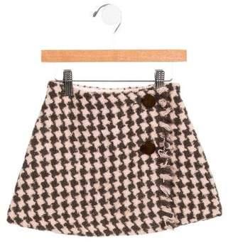 Il Gufo Girls' Wool-Blend Tweed Skirt